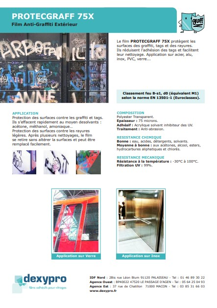 film anti graffiti commerce vitrine 75x